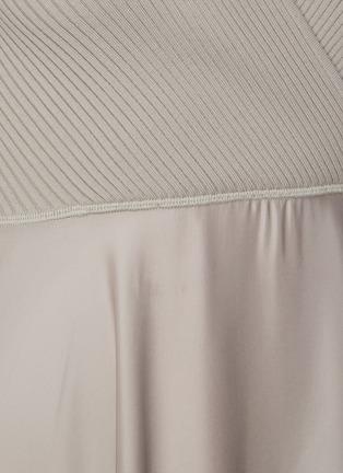 - THEORY - Ribbed draped dress