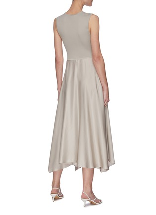 Back View - Click To Enlarge - THEORY - Ribbed draped dress