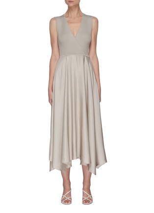 Main View - Click To Enlarge - THEORY - Ribbed draped dress