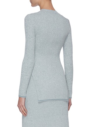 Back View - Click To Enlarge - THEORY - 'Mouline' rib-knit sweater