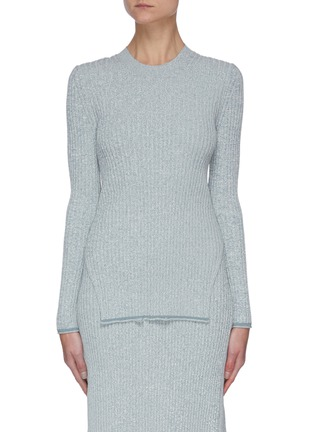 Main View - Click To Enlarge - THEORY - 'Mouline' rib-knit sweater