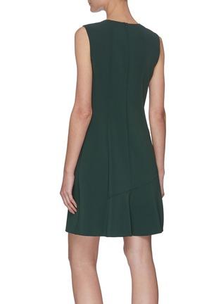Back View - Click To Enlarge - THEORY - Sleeveless Asymmetric Drape Ruffled Hem Dress