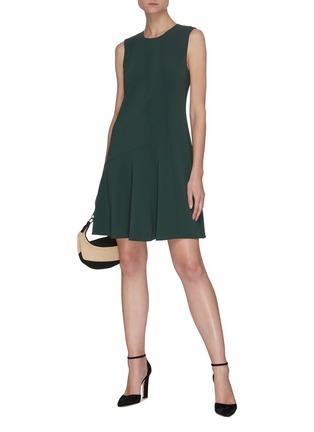 Figure View - Click To Enlarge - THEORY - Sleeveless Asymmetric Drape Ruffled Hem Dress