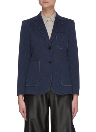 Main View - Click To Enlarge - THEORY - Contrast Seam Patch Pocket Single-breast Blazer