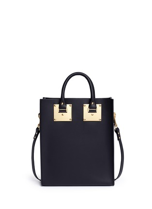 Back View - Click To Enlarge - Sophie Hulme - Mini rectangle leather box tote