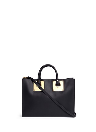 Main View - Click To Enlarge - Sophie Hulme - E/W Albion' soft leather satchel