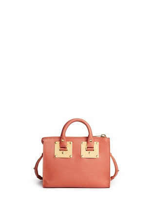 Back View - Click To Enlarge - Sophie Hulme - 'Albion' mini leather bowling bag