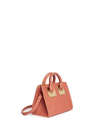 Front View - Click To Enlarge - Sophie Hulme - 'Albion' mini leather bowling bag