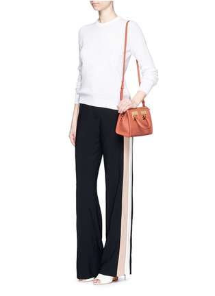 Figure View - Click To Enlarge - Sophie Hulme - 'Albion' mini leather bowling bag