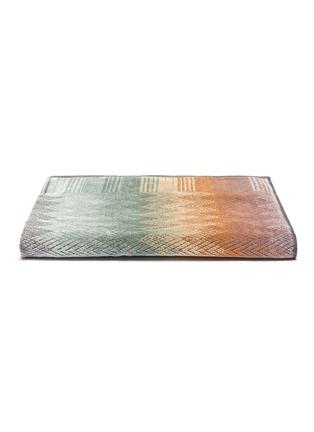 Main View - Click To Enlarge - MISSONI HOME - Yaco Cotton Bath Sheet – Green/Multi-colour