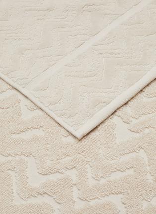 Detail View - Click To Enlarge - MISSONI HOME - Rex Cotton Bath Sheet – Natural White
