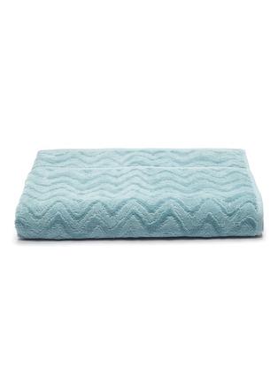 Main View - Click To Enlarge - MISSONI HOME - Rex Cotton Bath Towel – Light Blue