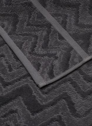 Detail View - Click To Enlarge - MISSONI HOME - Rex Cotton Bath Towel – Charcoal
