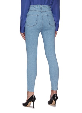 Back View - Click To Enlarge - J BRAND - 'Darted' High Rise Crop Denim Skinny Jeans