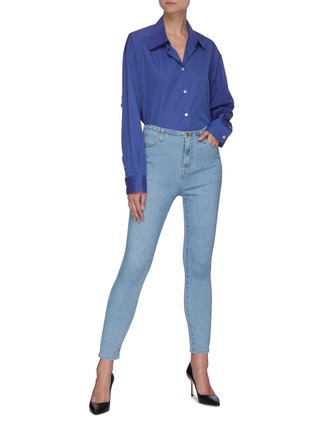 Figure View - Click To Enlarge - J BRAND - 'Darted' High Rise Crop Denim Skinny Jeans