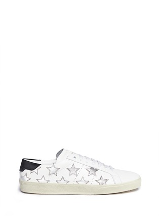 Main View - Click To Enlarge - SAINT LAURENT - 'California' embossed star leather sneakers