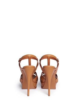 Back View - Click To Enlarge - SAINT LAURENT - 'Tribute' knot front vegetal leather sandals