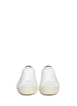 Front View - Click To Enlarge - SAINT LAURENT - 'Yeah Baby' embroidery canvas sneakers