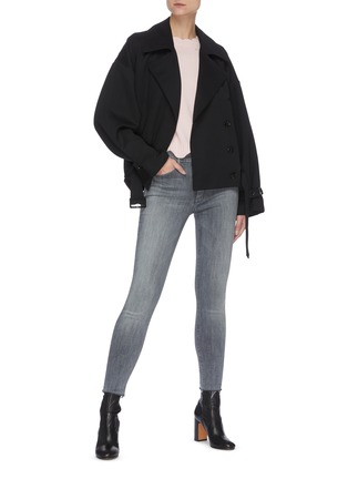 Figure View - Click To Enlarge - MOTHER - 'The Looker' Crop Skinny Jeans