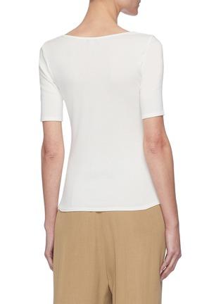 Back View - Click To Enlarge - VINCE - Square Neck Pima Cotton Modal Blend T-shirt