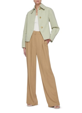Figure View - Click To Enlarge - VINCE - Square Neck Pima Cotton Modal Blend T-shirt