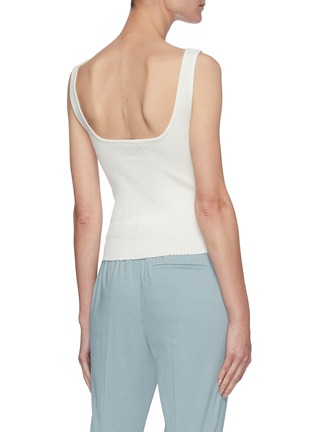 Back View - Click To Enlarge - VINCE - Square Neck Rib Tank Top