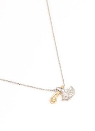 Figure View - Click To Enlarge - Bao Bao Wan - Axe pendant diamond pavé 18k gold necklace