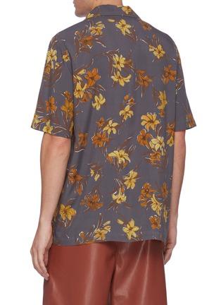Back View - Click To Enlarge - NANUSHKA - Floral print bowling shirt