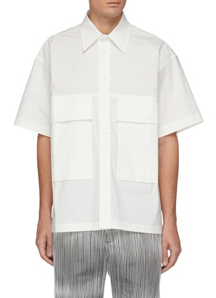 Main View - Click To Enlarge - CORNERSTONE - Exaggerated Flap Pocket Button-down Shirt