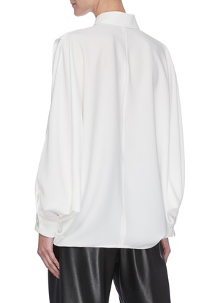 Back View - Click To Enlarge - SANS TITRE - Bat Sleeve Open Hem Shirt