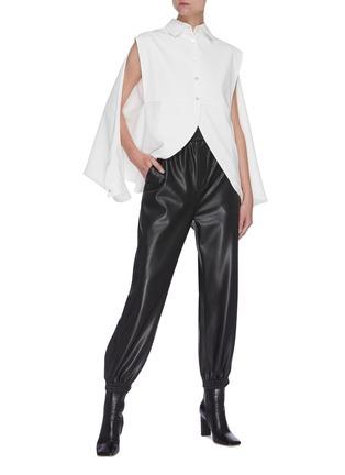 Figure View - Click To Enlarge - SANS TITRE - Bat Sleeve Open Hem Shirt