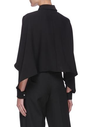 Back View - Click To Enlarge - SANS TITRE - Bat Sleeve Crop Shirt