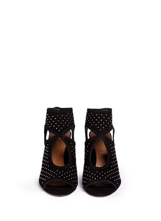 Figure View - Click To Enlarge - Aquazzura - 'Sexy Thing' stud cutout suede sandals