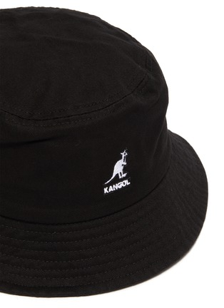 Detail View - Click To Enlarge - KANGOL - Logo Embroidered Kids and Toddler Cotton Bucket Hat