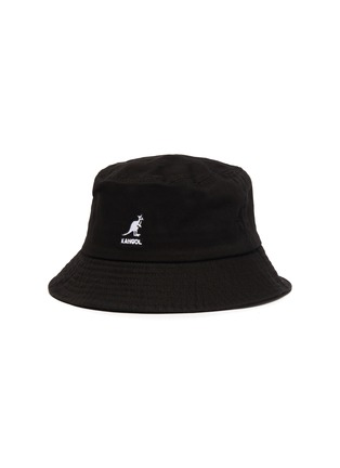 Main View - Click To Enlarge - KANGOL - Logo Embroidered Kids and Toddler Cotton Bucket Hat