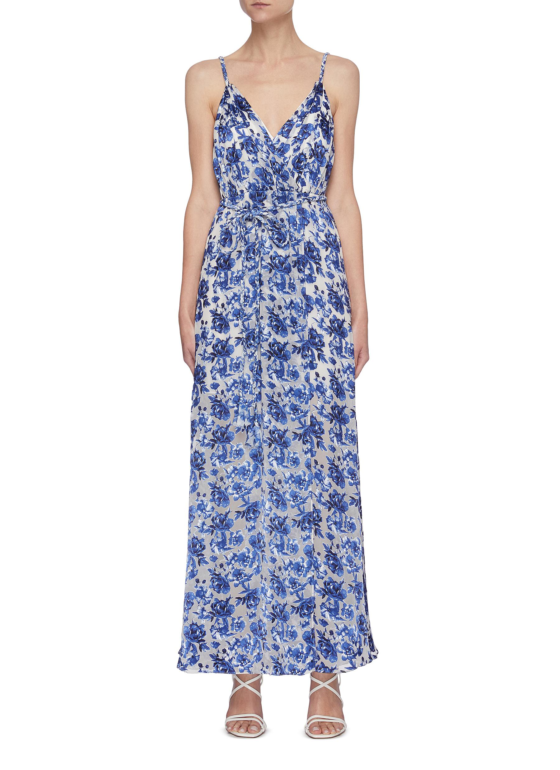 Alice And Olivia Maxi dresses 'SAMANTHA' FLORAL PRINT BELTED MAXI DRESS