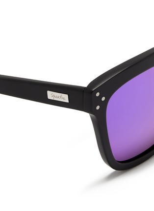 Detail View - Click To Enlarge - Spektre - 'Milano' matte acetate mirror sunglasses