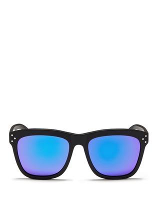Main View - Click To Enlarge - Spektre - 'Milano' matte acetate mirror sunglasses