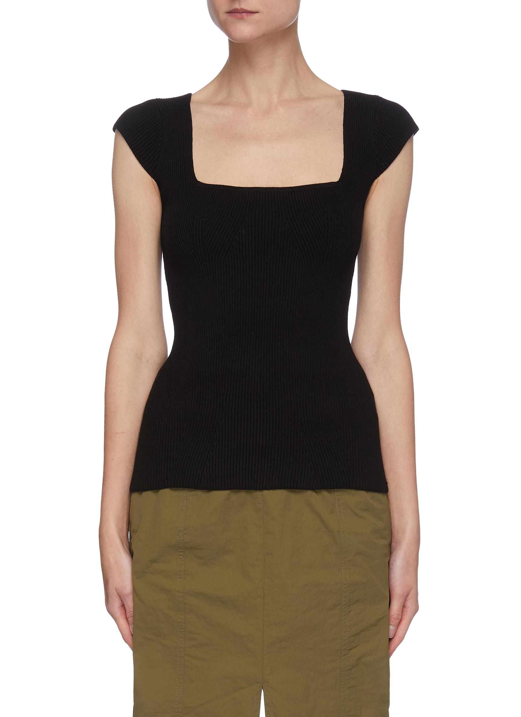 Helmut Lang SQUARE NECK BODYCON TOP