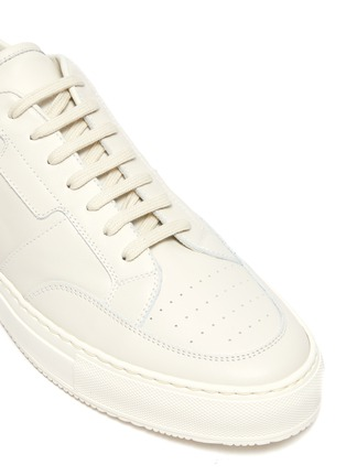 Detail View - Click To Enlarge - COMMON PROJECTS - 'Zeus Prototype' Low Top Leather Sneakers