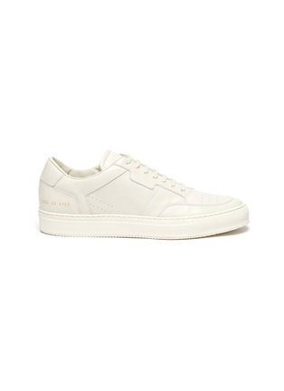 Main View - Click To Enlarge - COMMON PROJECTS - 'Zeus Prototype' Low Top Leather Sneakers