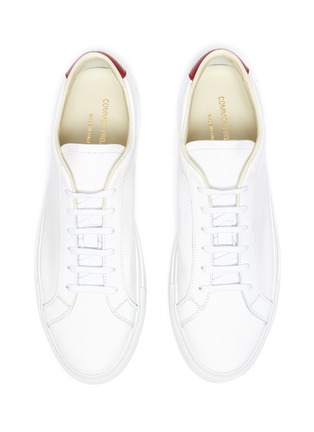 Detail View - Click To Enlarge - COMMON PROJECTS - 'Retro' Low Top Leather Sneakers