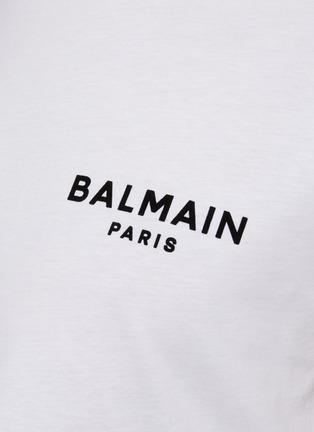 - BALMAIN - Logo Print Cotton T-shirt