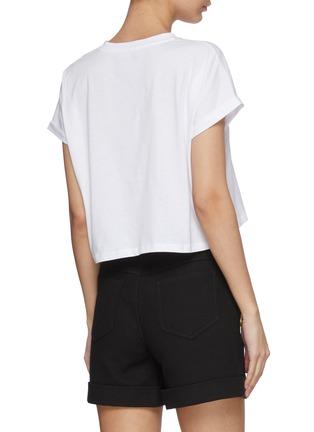Back View - Click To Enlarge - BALMAIN - Logo Print Cotton T-shirt