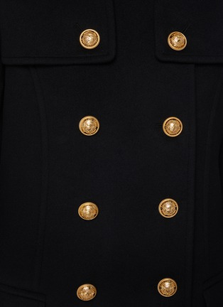 - BALMAIN - Mock Neck Button Coat