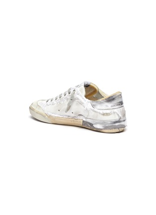 - GOLDEN GOOSE - 'Super-star' Torn Overlay Distressed Leather Sneakers