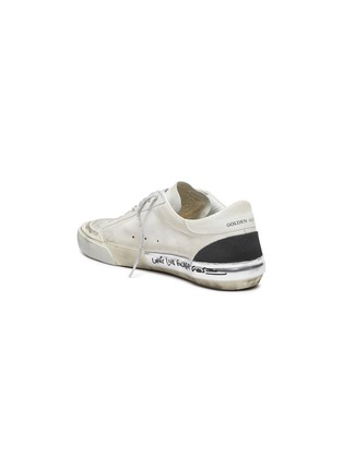 - GOLDEN GOOSE - 'Superstar' glitter lace smudge detail suede sneakers