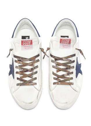 Detail View - Click To Enlarge - GOLDEN GOOSE - 'Super-star' Star Motif Distressed Leather Sneakers