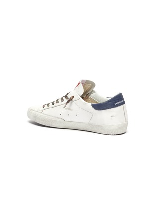 - GOLDEN GOOSE - 'Super-star' Star Motif Distressed Leather Sneakers
