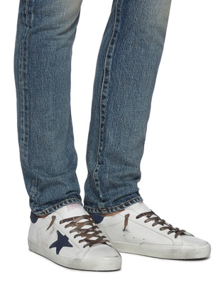 Figure View - Click To Enlarge - GOLDEN GOOSE - 'Super-star' Star Motif Distressed Leather Sneakers